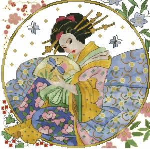 Японка скачать схемы для вышивки