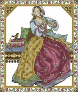 Схема Девушка с флейтой