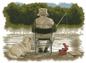 Схема Приятели на рыбалке / Fishing buddies