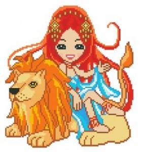 Схема Кукольный зодиак. Лев