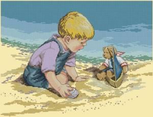 Схема Мальчик с лодочкой
