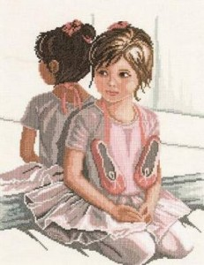Схема Балерина перед зеркалом / Ballet Girl in Front of Mirror
