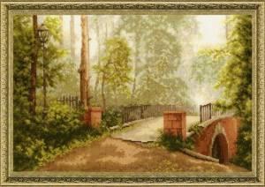 Схема Мост в старом парке