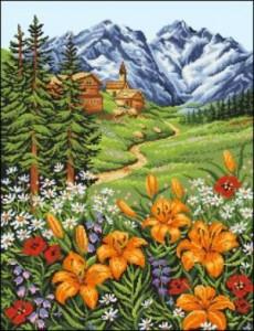 Схема Лилии в горах