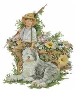 Схема Мальчик с собакой