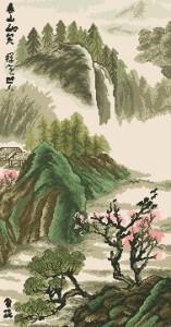 Схема Японский пейзаж