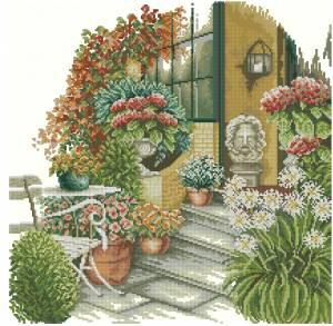 Схема Уголок в саду