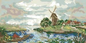 Схема Мельница и река
