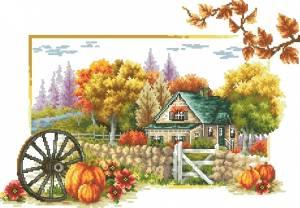 Схема Времена года. Осень. (Деревня)
