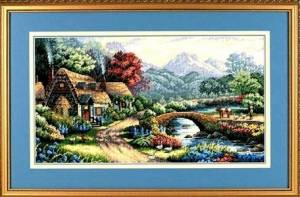 Схема Английский коттедж в долине / English Valley Cottage