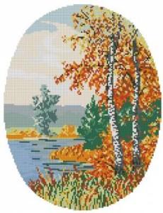 Схема Времена года. Осень (овал)