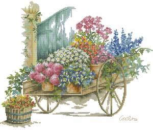 Схема Тачка с цветами