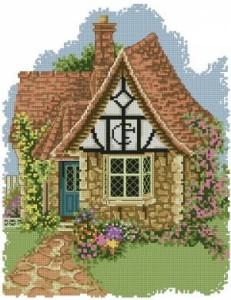 Схема Цветочные горшки — коттедж / Flower Pots Cottage