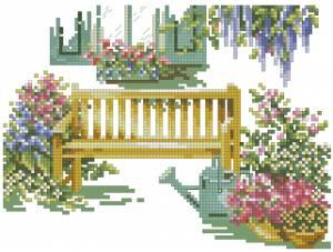 Схема Скамейка в саду