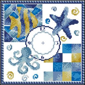 Схема Морские часы