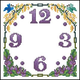 Схема Цветочные часы