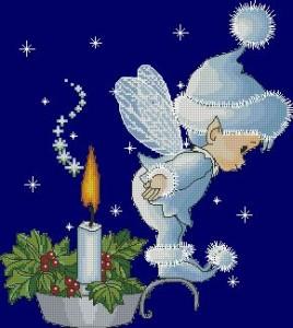 Схема Эльф на свече