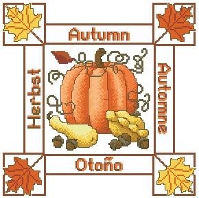 Схема Сезонные подушки. Осень