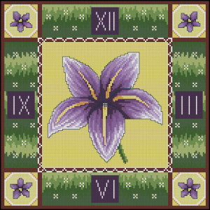 Схема Лиловая лилия