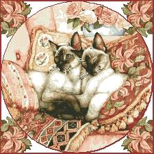Схема Кошки на подушках