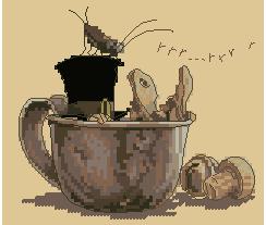 Схема Эльф в чашке