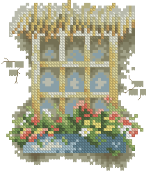 Схема Окно с мелкими цветами