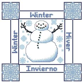 Схема Сезонные подушки. Зима