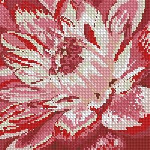 Схема Розовый цветок