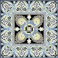 Схема Черно-голубой узор