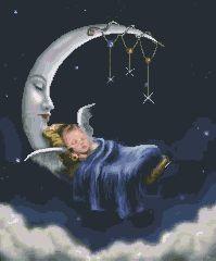 Схема Спящий малыш на месяце