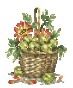 Схема Крыжовник и цветы