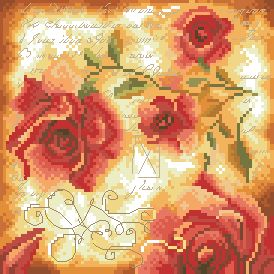 Схема Подушка с розой