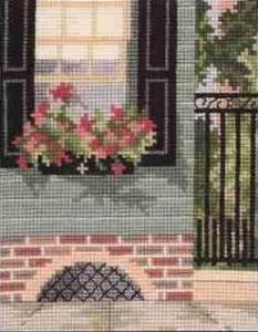 Схема Городской сад, цветы на окне