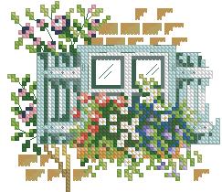 Схема Окно с яркими цветами