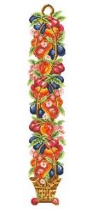 Схема Высокая корзина с фруктами (панель)
