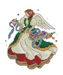 Схема Ангел и цветы