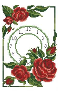 Схема Красные розы
