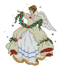 Схема Ангел с цветами