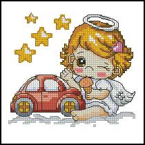 Схема Ангел водителю девочка
