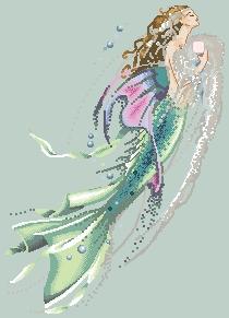 Схема Жемчужная русалка / Mermaid of pearls