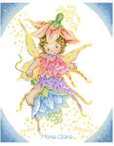 Схема На цветке, фея