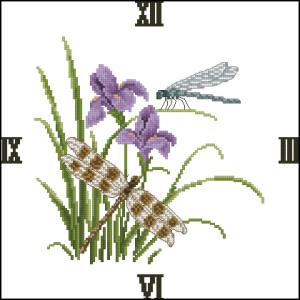 Схема Стрекозы и цветы