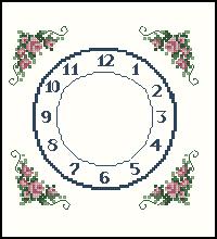 Схема Царственные часы / Regal rose clock