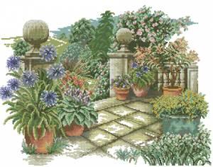 Схема Цветы на терассе