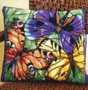 Схема Витраж с красивыми бабочками