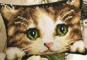 Схема Прямоугольная подушка. Котенок