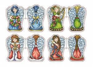 Схема Ангелы - игрушки на ёлку