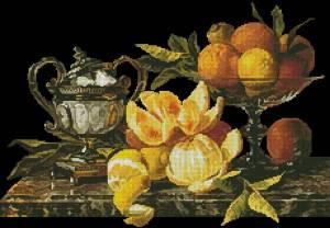Схема Натюрморт с апельсинами