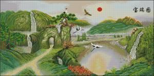 Схемы китайских вышивок пейзажи