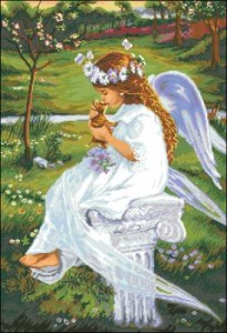 Схема Ангелок с котенком